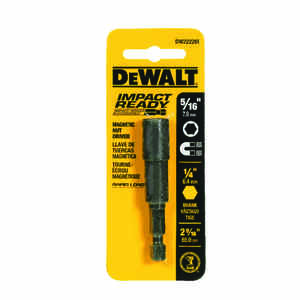DeWalt  Impact Ready  2-9/16 in. L x 5/16 in.  1 pc. Nut Driver  Black Oxide  Quick-Change Hex Shank