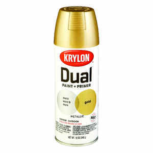 Krylon  Dual Superbond  Brilliant  Gold  12 oz. Metallic Spray Paint