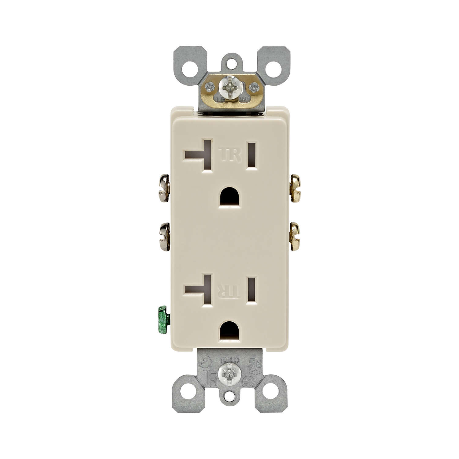 Leviton Decora 20 amps 125 volt Light Almond Tamper Resistant Outlet 5-20R