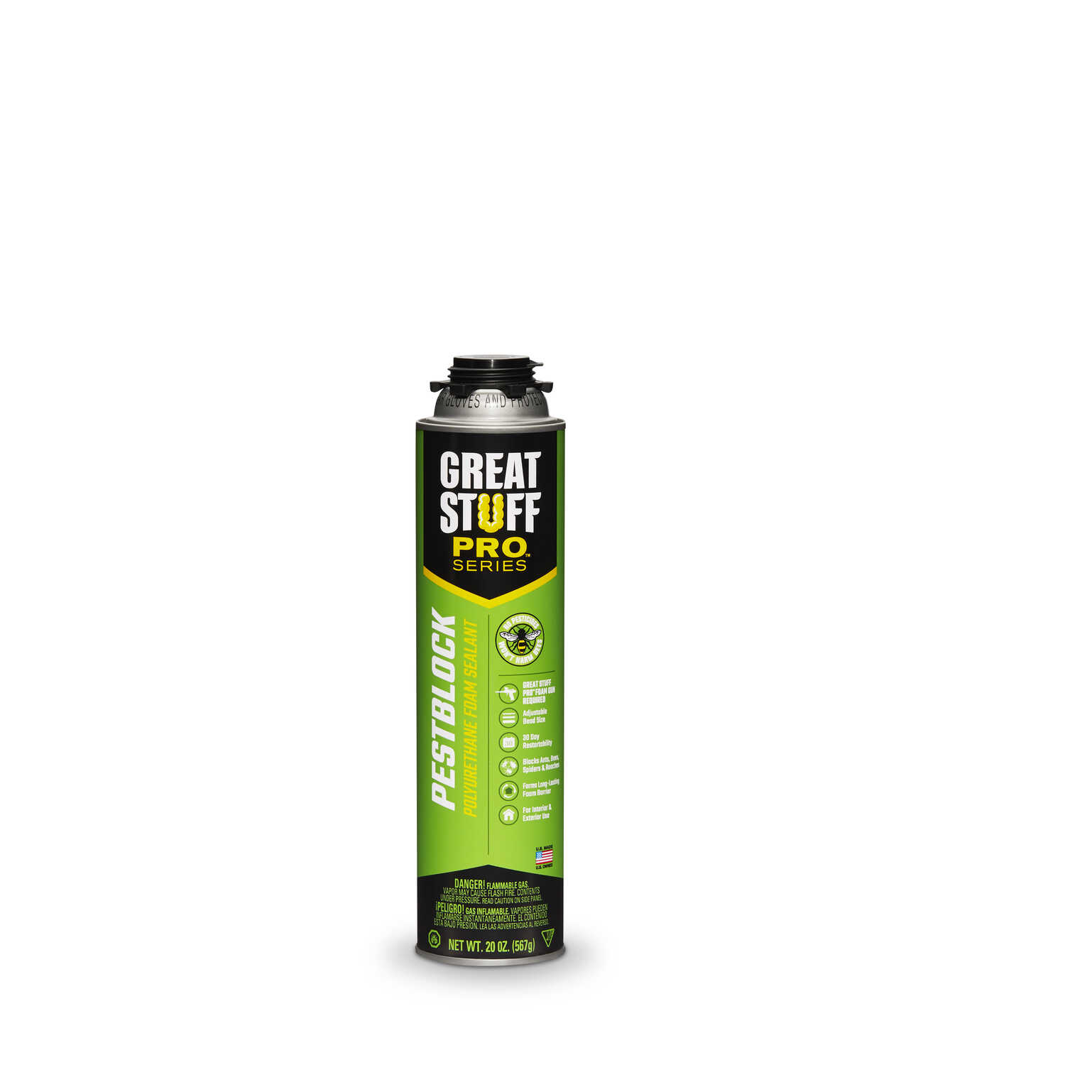 GREAT STUFF  PRO  Gray  Polyurethane Foam  Insulating Sealant  20 oz.