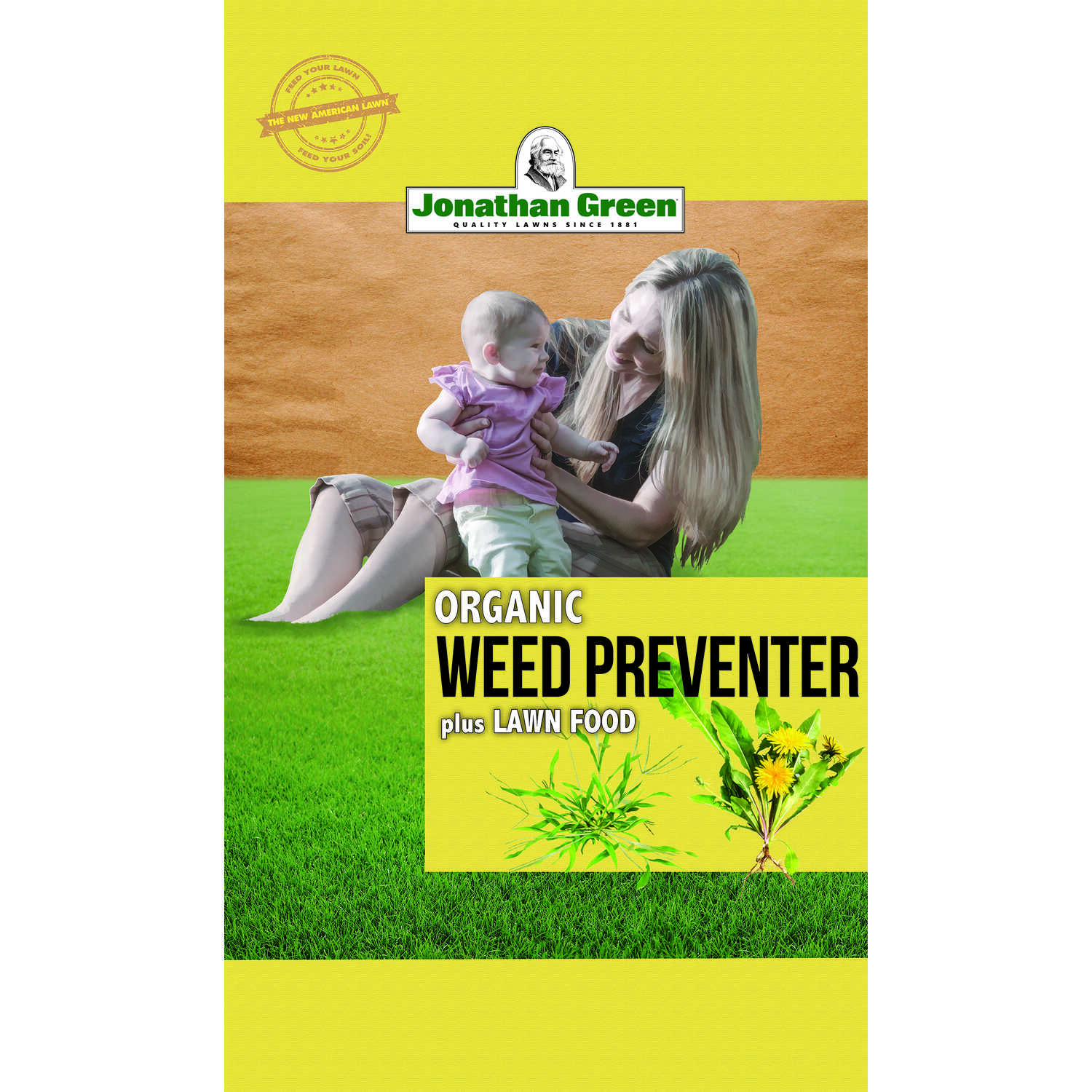Jonathan Green  Organic 10-0-2  Weed and Feed with Corn Gluten  For All Grass Types 7.5 lb. 2500 sq.