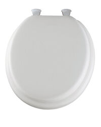 Mayfair Round White Vinyl Cushioned Toilet Seat