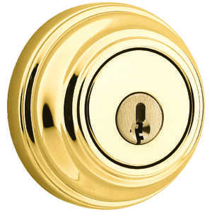 Weiser  Polished Brass  Metal  Single Cylinder Smart Key Deadbolt