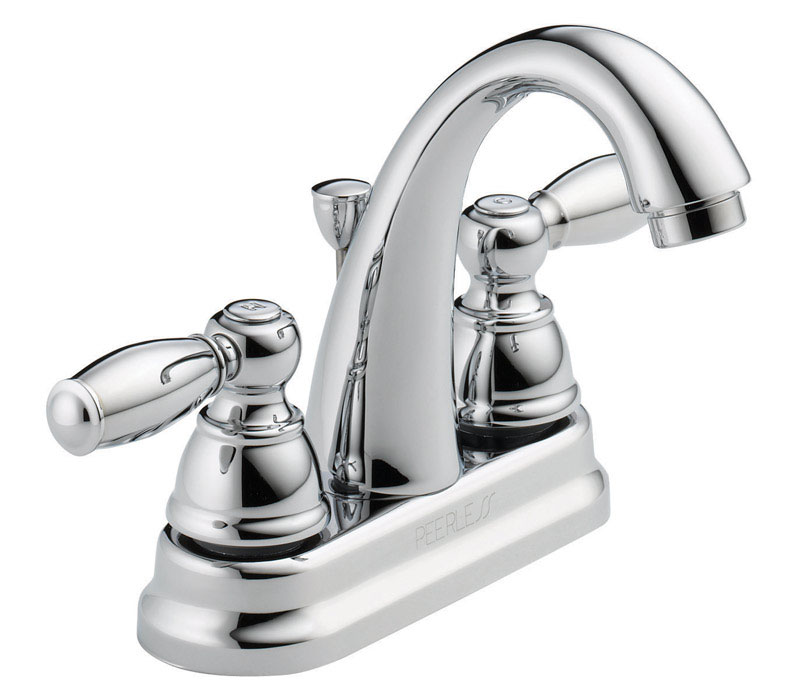 Peerless  Designer  Two Handle  Lavatory Faucet  4 in. Chrome