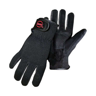 Boss Guard Men's Indoor/Outdoor Mechanic's Glove Black L 1 pair