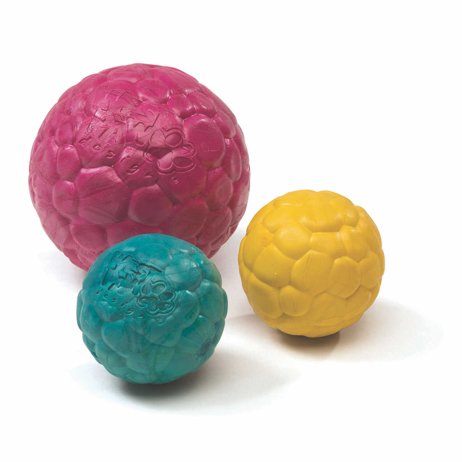 West Paw  Zogoflex Air  Yellow  Boz  Synthetic Rubber  Ball Dog Toy  Small