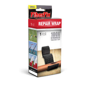 FiberFix  40 in. L x 1 in. W Tape  Black  Repair Wrap