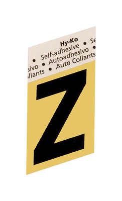 Hy-Ko  1-1/2 in. Black  Aluminum  Self-Adhesive  Letter  Z  1 pc.