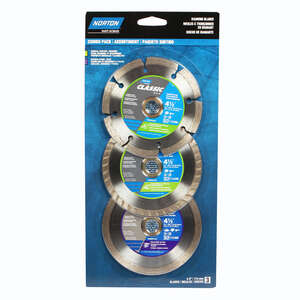 Norton  Classic  0.08 in.  Diamond  Saw Blade Combo Pack  3 pk 4-1/2  Classic  5/8 and 7/8 in.