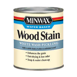Minwax  Transparent  White Wash Pickling  Water-Based  Acrylic  Wood Stain  1 qt.