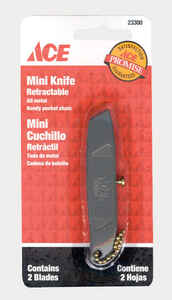 Ace  Mini  3 in. Hobby Knife  Silver  1 pc.