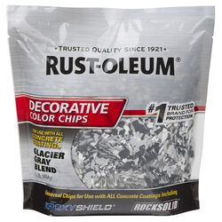 Rust-Oleum EpoxyShield Indoor and Outdoor Glacier Gray Blend Decorative Color Chips 1 lb.