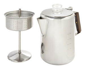 Tops  Rapid Brew  12 cups Silver  Stovetop Percolator