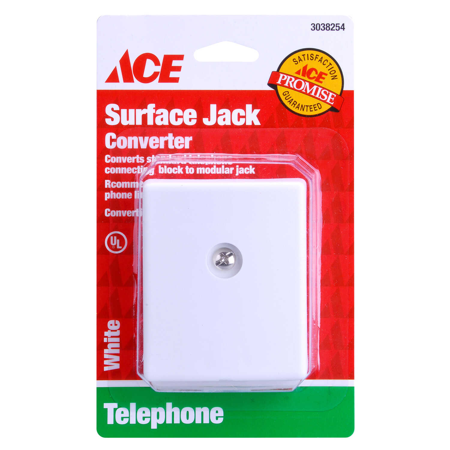 Ace  Phone Jack  Surface-Mount  1-Jack