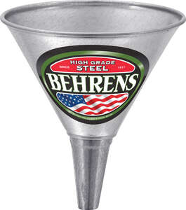 Behrens  Silver  7-3/8 in. H Steel  1 qt. Funnel