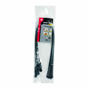 Gardner Bender  24 in. L Black  Beaded Cable Tie  5 pk