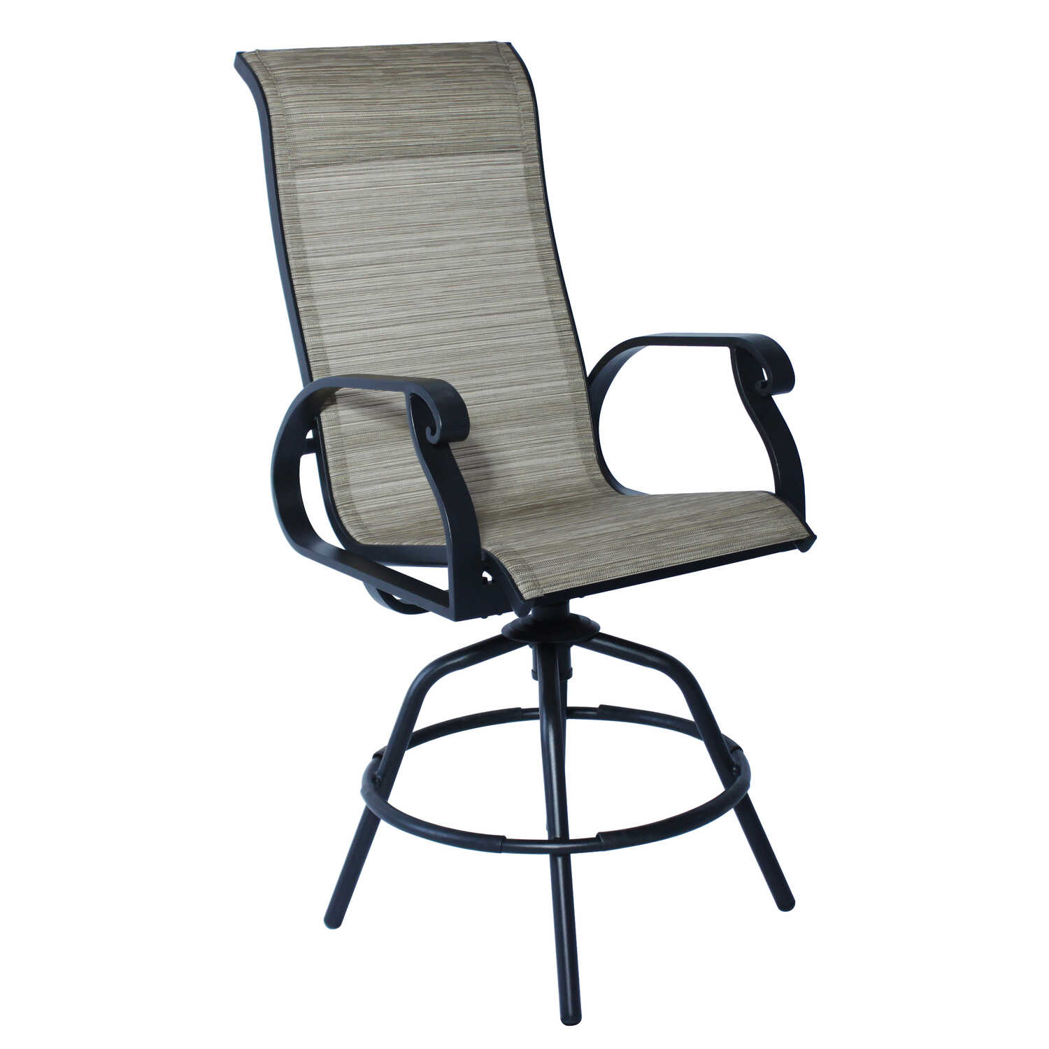 Living Accents  Brown  Aluminum  Barrington  Swivel Rocker