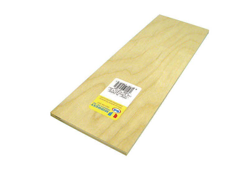 Midwest Products  4 in. W x 12 in. L x 1/4 in.  Plywood