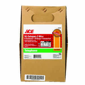 Ace  1000 ft. L Ivory  Category 3 Twisted Pair Wire