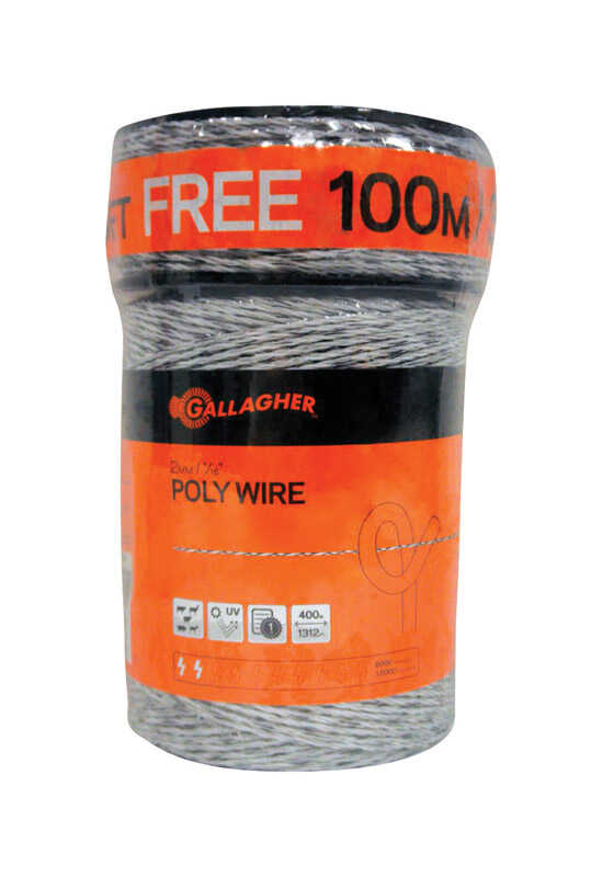 Gallagher  Fence Poly Wire  White