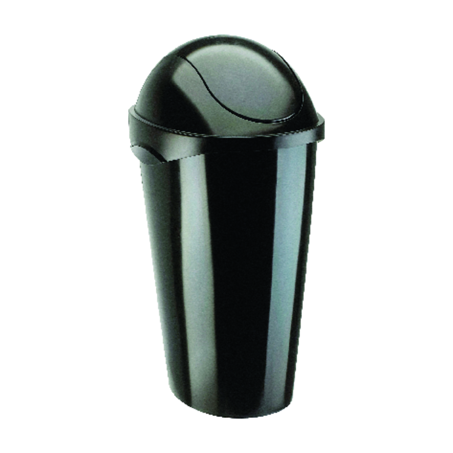 Umbra  Black  Swing-Top  Wastebasket  12 gal.