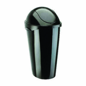 Umbra  12 gal. Black  Swing-Top  Wastebasket