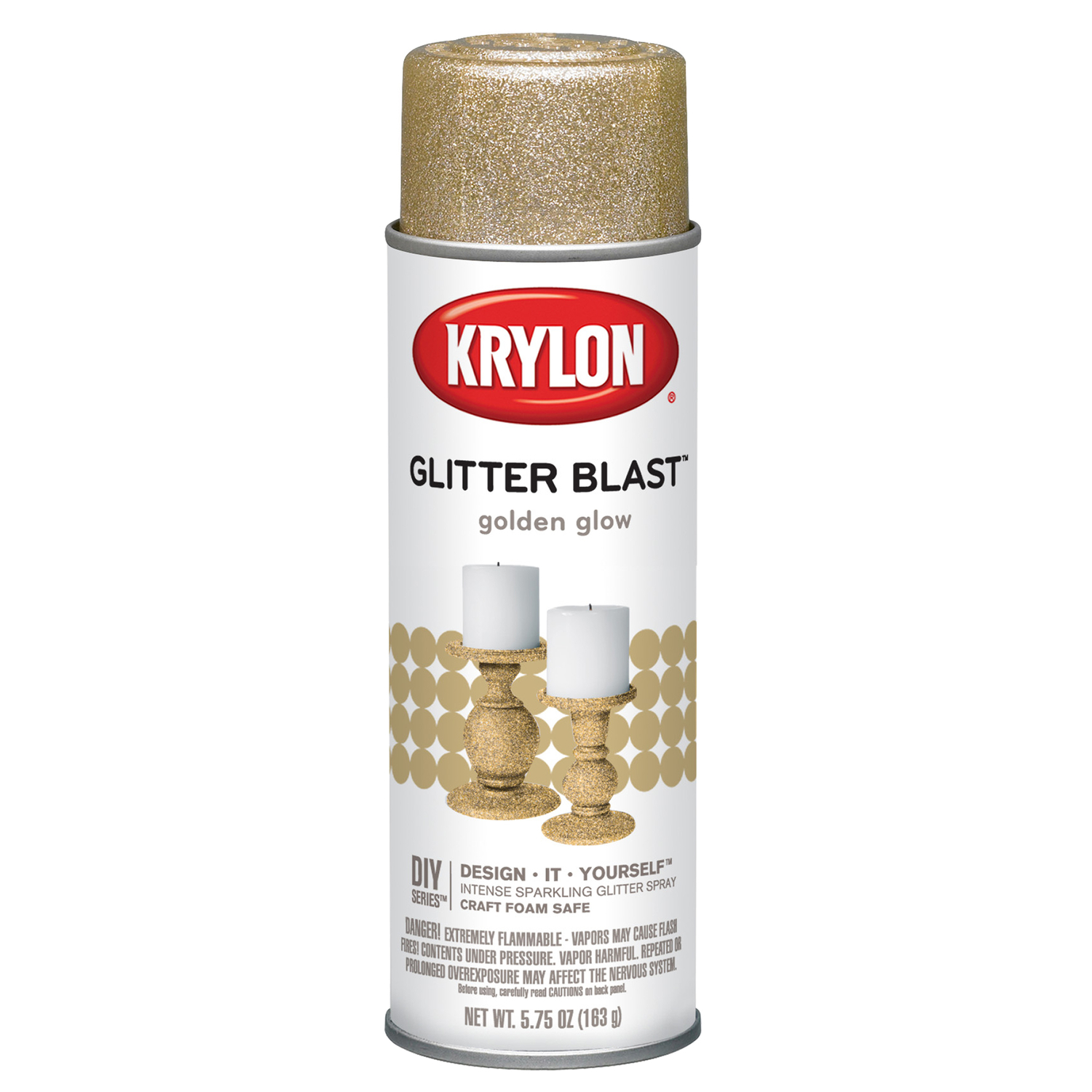 Krylon  Glitter Blast Spray Paint  5.75 oz. Golden Glow