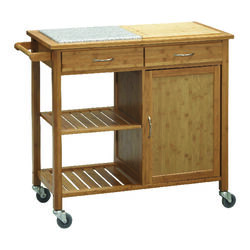 Linon Home Decor  Traditional  Cart  36 in. H x 41.5 in. W x 19 in. D Natural