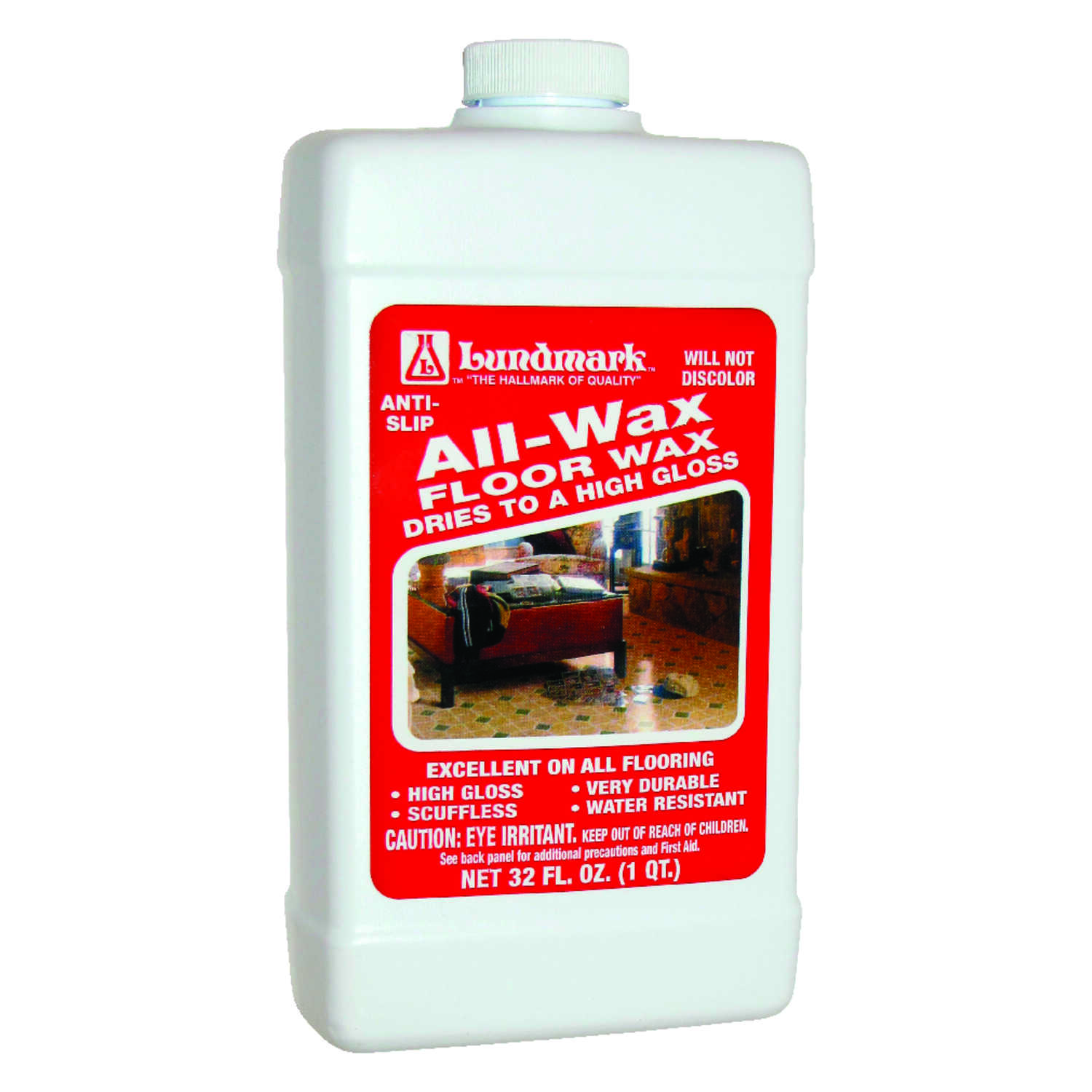 Lundmark  All Wax  High Gloss  Anti-Slip Floor Wax  Liquid  32 oz.