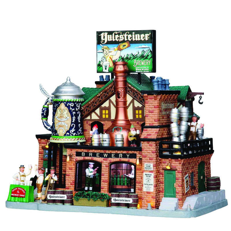 Lemax  Yulesteiner Brewery  Village House  Multicolor  Porcelain  10.63 in. 1 each