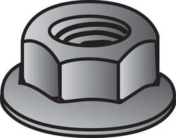 Hillman 1/4 in. Zinc-Plated Steel USS Whiz Lock Nut 100 pk