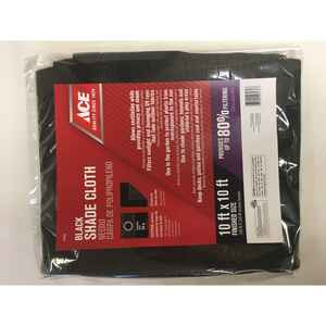 Ace  10 ft. W x 10 ft. L Heavy Duty  Polyethylene  Shade Cloth  Black