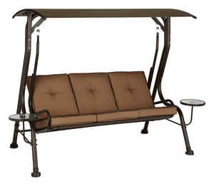 Living Accents  Steel  68.2 in. 78 in. 47.3 in. 750 lb. 3 person  Porch Swing