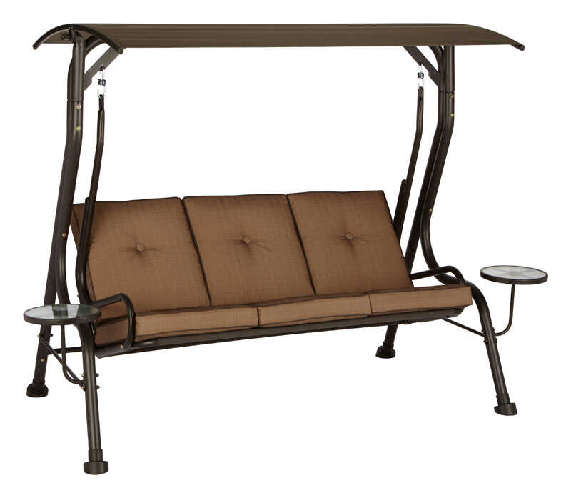 Living Accents Steel 3 Person Porch Swing 68 2 In 78 In 47 3 In