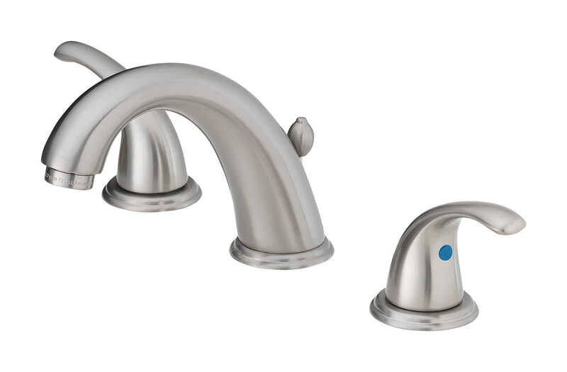 OakBrook  Coastal  Coastal  Brushed Nickel  Widespread  Lavatory Pop-Up Faucet  6in. - 12 in.