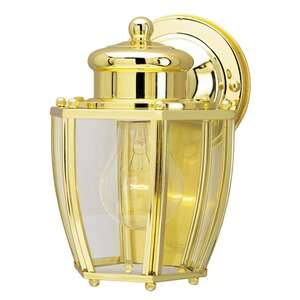 Westinghouse  Polished Brass  Incandescent  Wall Lantern