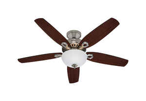 Hunter Fan  Builder Deluxe  52 in. 5 blade Indoor  Brushed Nickel  Ceiling Fan