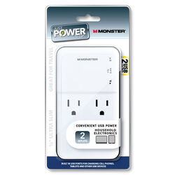 Monster  Just Power It Up  2 J 2 outlets Surge Tap