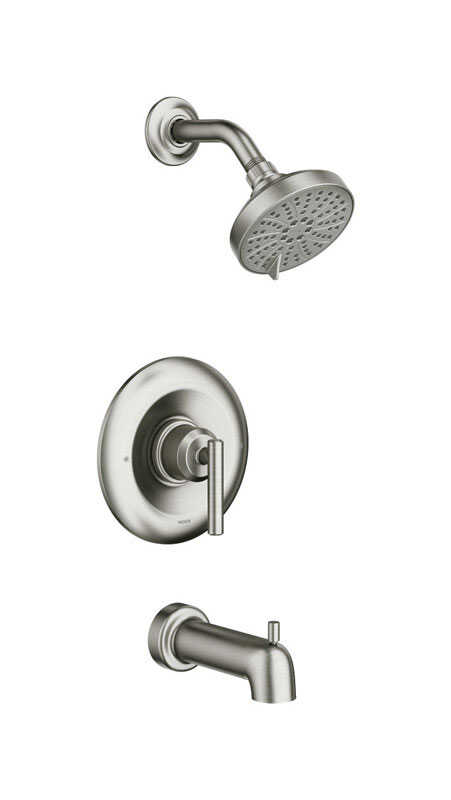 Moen  Gibson  1 Lever  Tub and Shower Faucet  Brushed Nickel  Metal