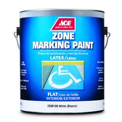 Ace  White  Zone Marking Paint  1 gal.