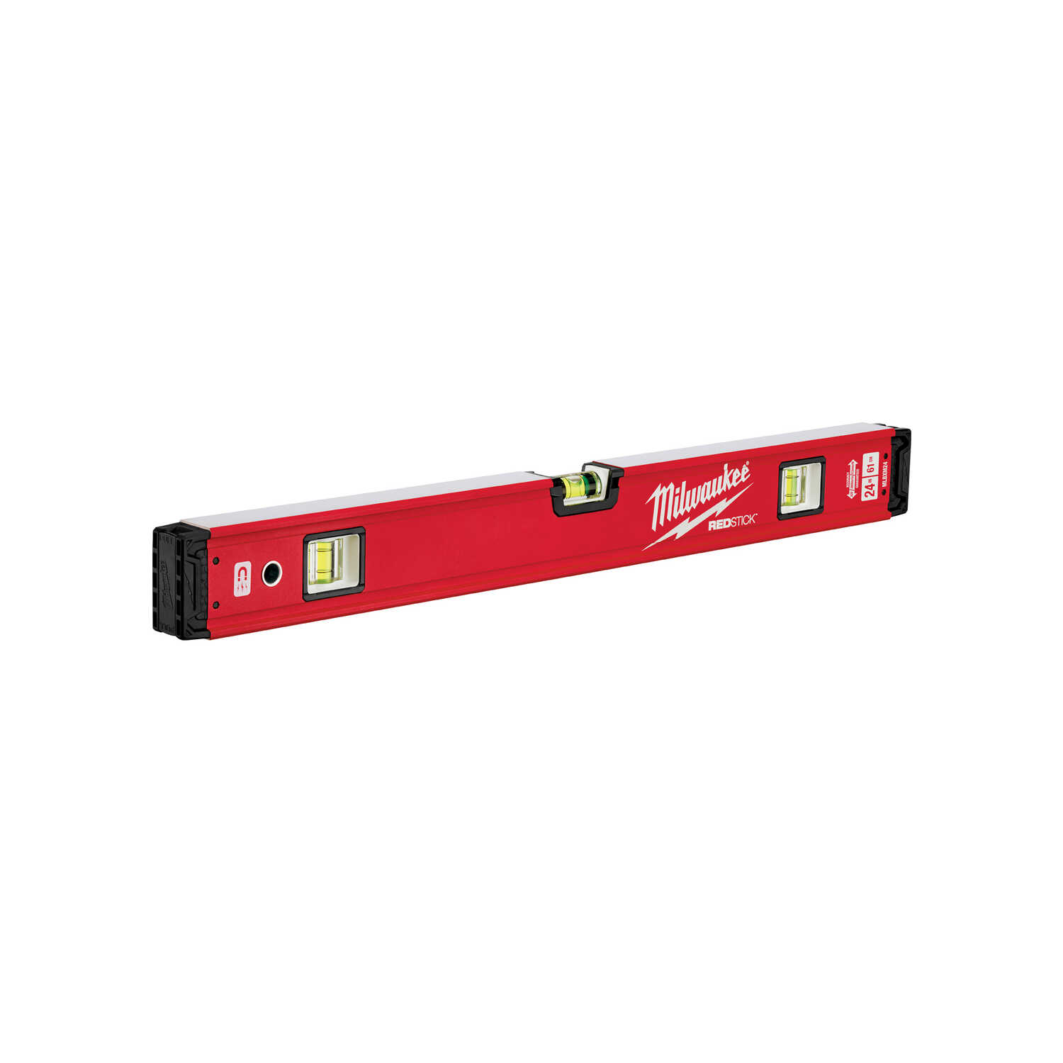 Milwaukee  REDSTICK  24 in. Metal  Magnetic Box  Level  3 vial