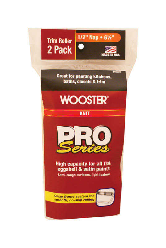 Wooster  Pro Series  Knit  3/8 in.  x 6-1/2 in. W Trim  Paint Roller Cover  For Semi-Rough Surfaces