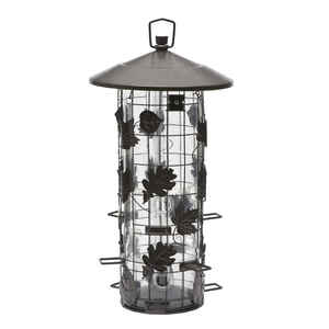 Perky-Pet  Wild Bird  8 lb. Metal/Plastic  Bird Feeder  9 ports