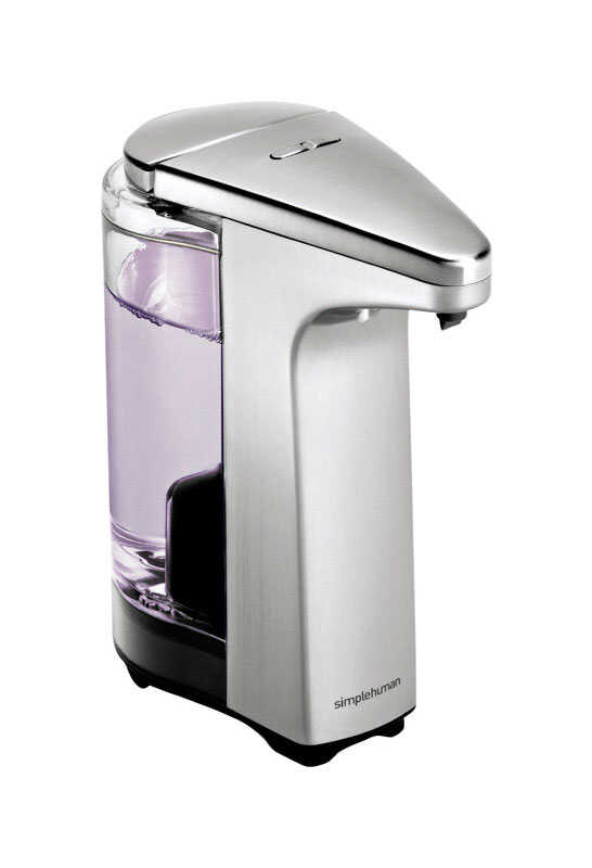 simplehuman  7.6 in. W x 4.3 in. L Brushed nickel  Soap Dispenser
