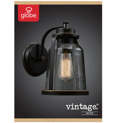 Globe Electric  Roth  1-Light  Oil Rubbed Bronze  Vintage  Wall Sconce