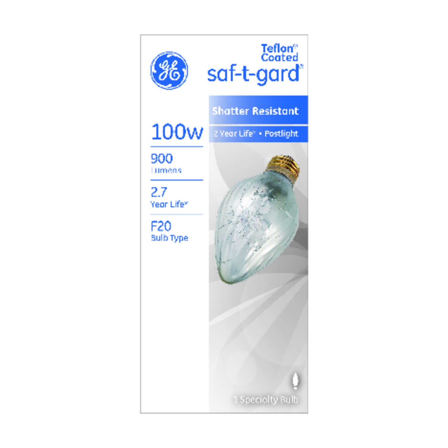 GE  Saf-T-Gard  100 watts A15  Incandescent Bulb  900 lumens Soft White  Specialty  1 pk