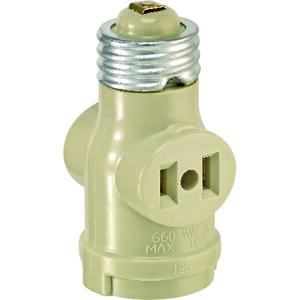 Leviton  Plastic  Medium Base  Lampholder  1 pk
