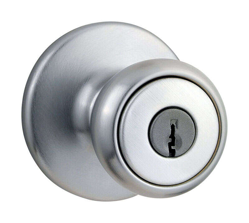Kwikset  Tylo  Tylo  Satin Chrome  Steel  Entry Knobs  ANSI/BHMA Grade 3  1-3/4 in.