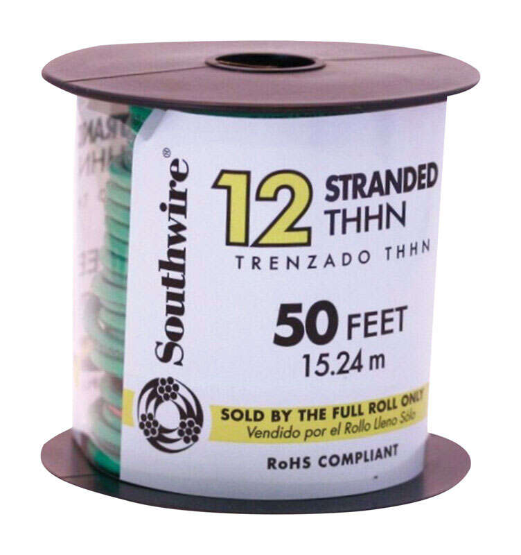 Southwire  50 ft. Stranded  THHN  12/1  Building Wire