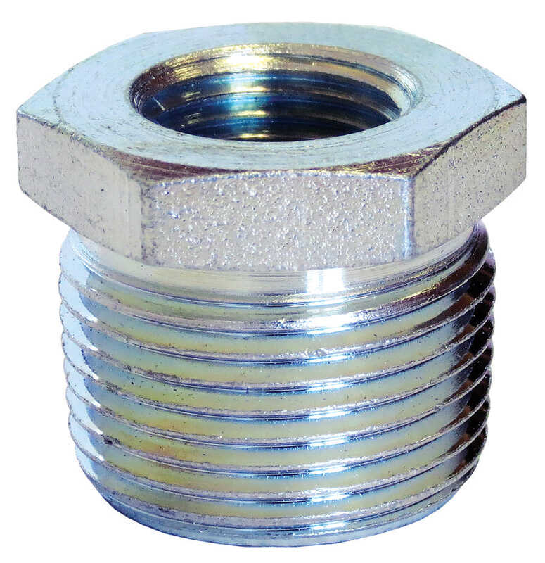 Anvil  1/2 in. MPT   x 3/8 in. Dia. FPT  Galvanized  Steel  Hex Bushing